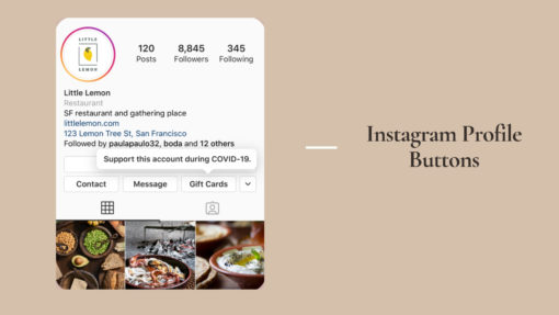 Instagram Profile Buttons