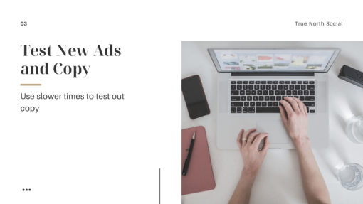 Test New Ads or Copy Variations