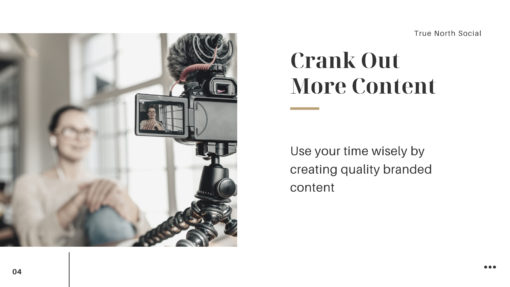 Use slower times to crank out content