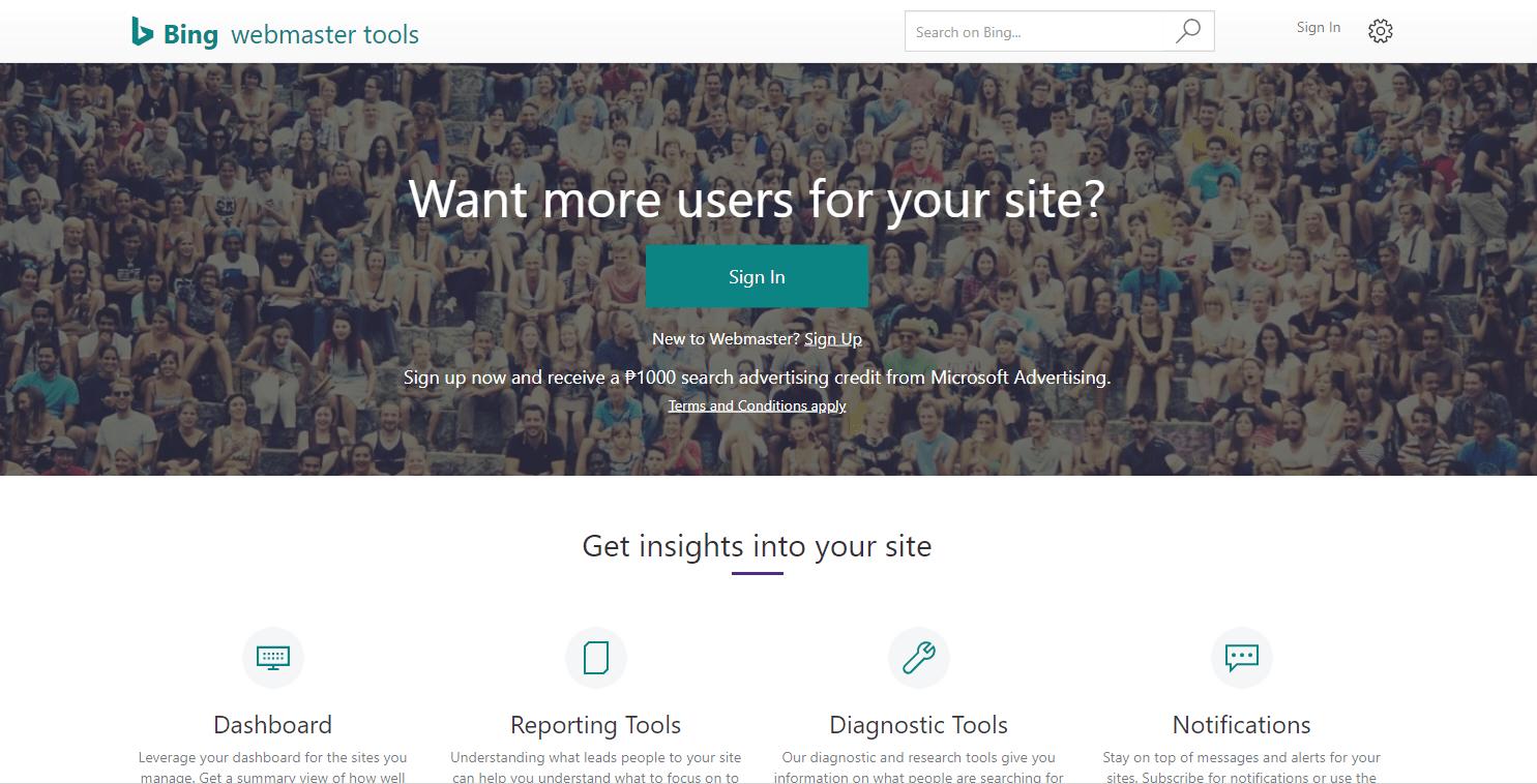 Bing Webmaster Tools - Best SEO Tools