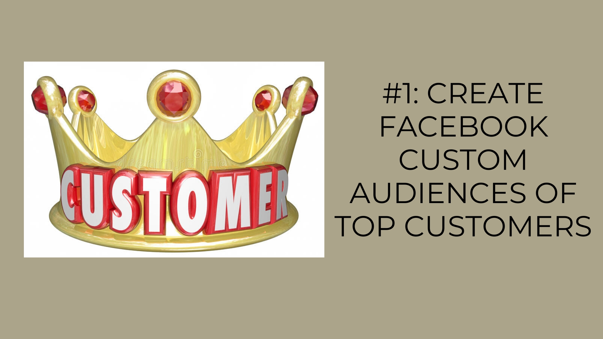 Create Facebook Custom Audiences of Top Customers