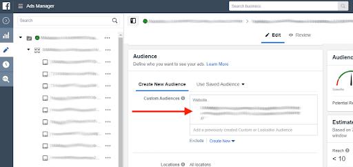 Create New Audience