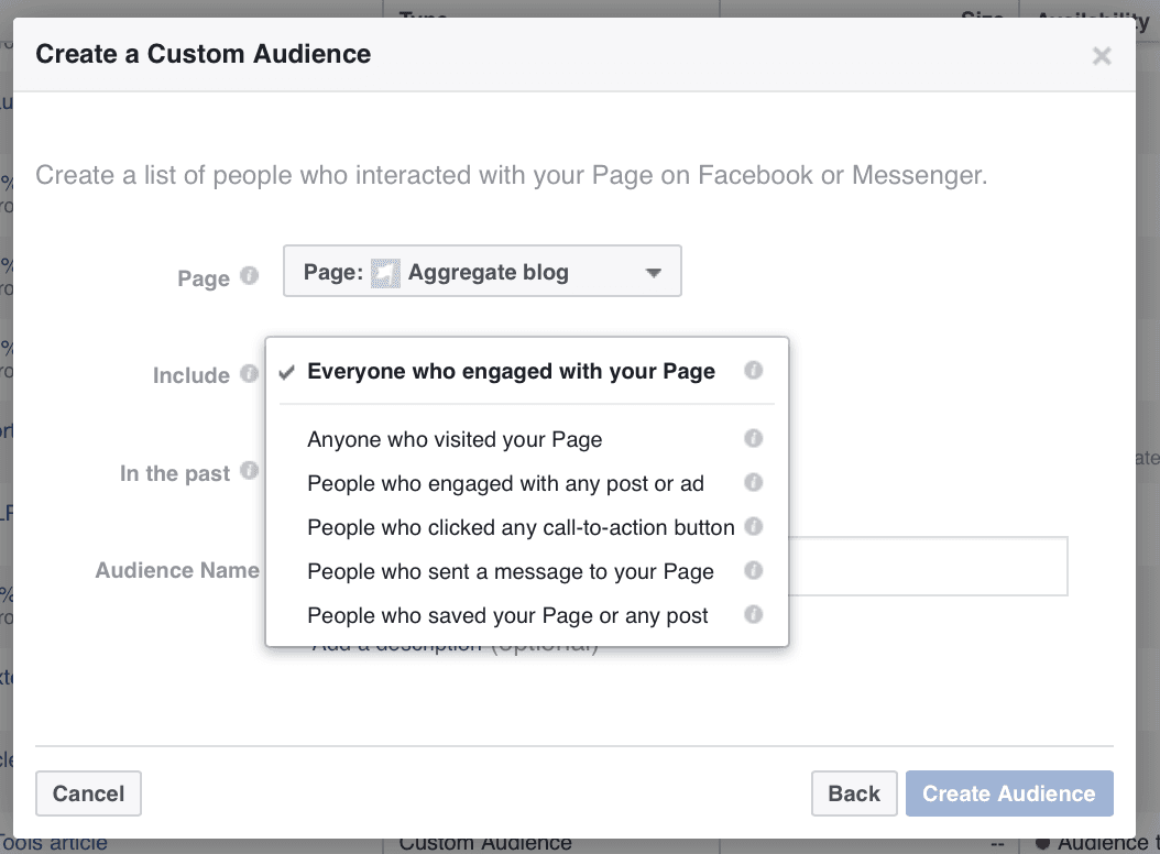 Facebook Engagement Audience