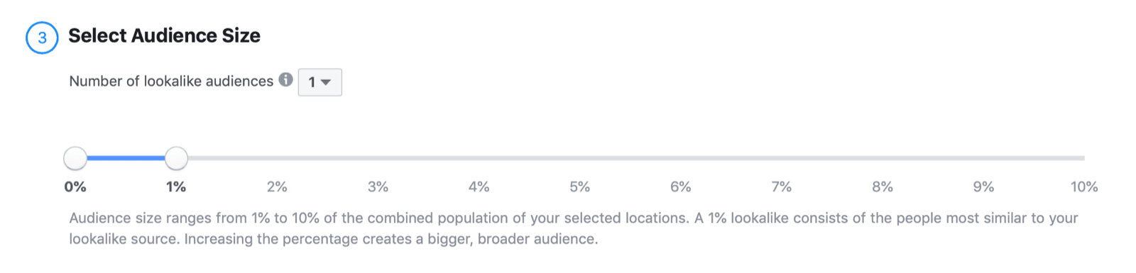 Select Audience Size