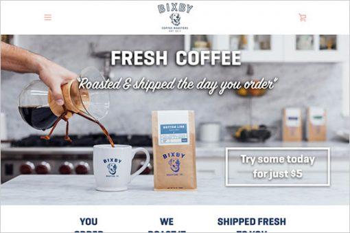 Bixby Shopify Website Design