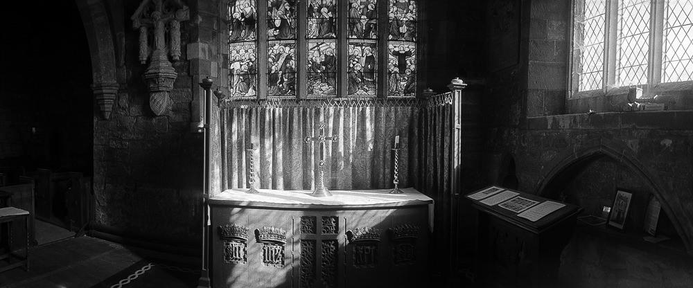 Widelux Test Sherburn Church