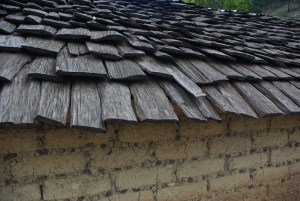 Adobe walls and hand made shingles are common in the mountains.