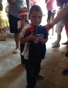 This boy got a new shirt.