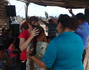 Several people prayed with each lady that wanted to be healed.