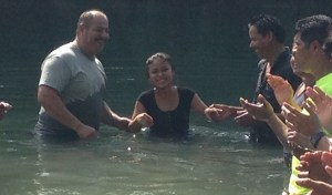 This was one of the happy believers who made a public profession of faith through baptism.
