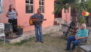 Juan and Sandra sang to me at a gathering Friday night.