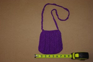 This handmade purse with zipper is made to last many years.