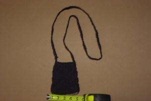 This handmade purse has a zipper.
