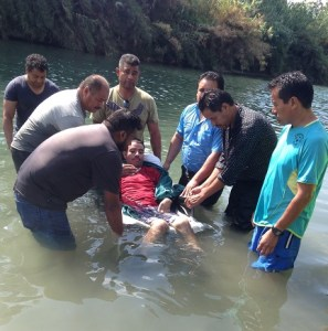 Though wheelchair bound he wanted to be baptized.