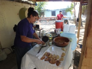 Sandra made Empenadas filled with meat and vegetables for the elderly this week.