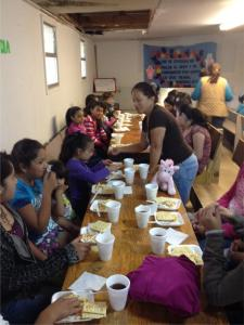 We served a light lunch at our VBS.