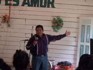 Ramiro delivered a goof sermon.