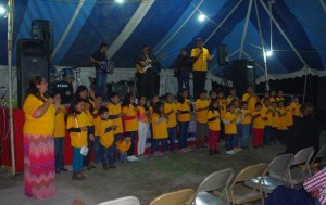 "The Marcos 10:14 Kid's Club used sign language and sang ""I have decided to follow Jesus."""