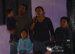 Pastor Reynaldo and family sang a Worship song.