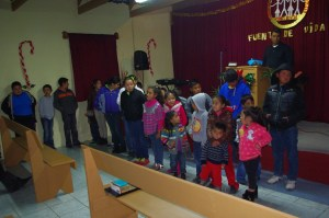 The church prayed for the children.