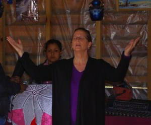 Tonyia used sign language to praise God to the words of a Spanish song.