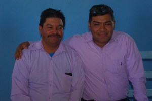 The local pastor and Pastor Jose.