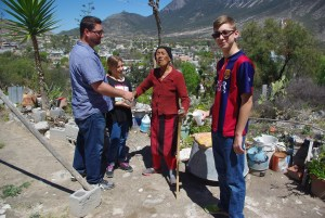 Jarrick (left), Jade, Maria and Gaige met when we delivered a meal to Maria Tuesday.