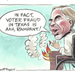 Texas Paper Apologizes After Tweeting Cartoon of Governor on Fire in Wheelchair