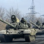 Fears of conflict in Ukraine as Putin places 40,000 Russian troops and armoured vehicles along the border