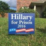 "CLINTON RESPONDS TO ""HILLARY FOR PRISON!"" SHOUT: ""LET'S MAKE IT HAPPEN!"""