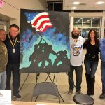 Watch: Man Paints 'Raising the Flag on Iwo Jima' While Singing National Anthem at ECHL Hockey Game