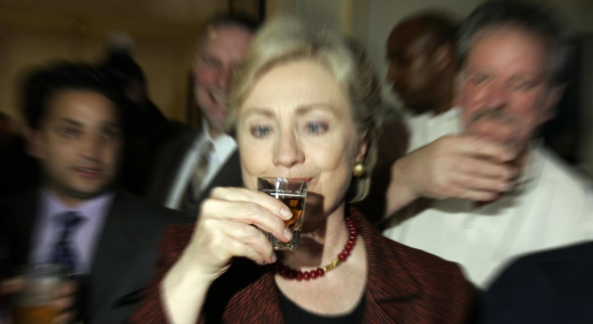 Image result for hillary clinton drinking