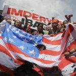 Protesters in Philippines burn American flag; 'Troops out now!'