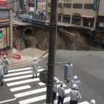 Gigantic sinkhole swallows intersection in Japanese city