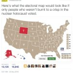 After Trump Tweet, Bitter Pollster Nate Silver Posts Nuclear Survival Electoral College Map