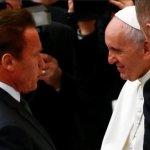 Pope Francis Greets Schwarzenegger, Floated as Possible Ambassador to Vatican