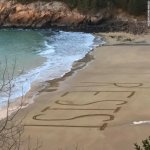 "CNN GETS DESPERATE: Group Writes ""RESIST"" on a beach in Maine to combat ""Climate of bigotry and hate"""