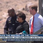 Justice Department Sued For Records About Lynch's Tarmac Meeting With Clinton