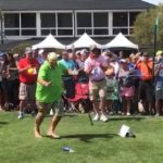 MERICA: Shoeless John Daly drives a ball off a beer can and chugs it, all while smoking (VIDEO)