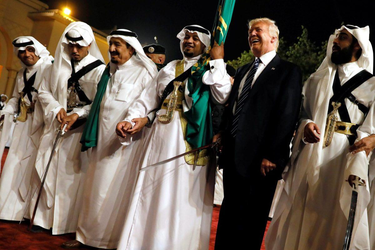 WATCH: Trump, Tillerson, And Wilbur Ross Danced With Swords In Saudi Arabia