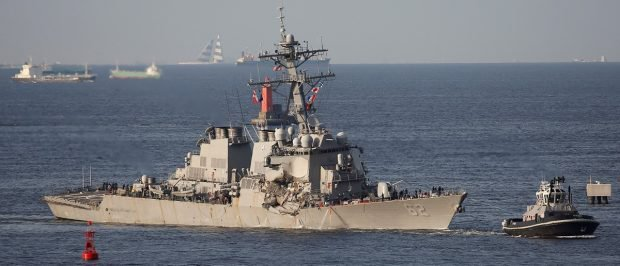 Navy Sailors Found Dead Aboard US Destroyer After Collision With Container Ship