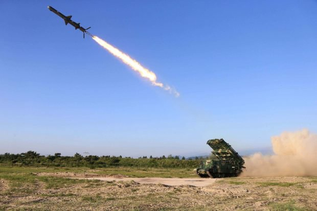 Korean People's Armed Forces test-fire a new cruise rocket in this undated photo released by North Korea's Korean Central News Agency (KCNA) May 30, 2017. KCNA/via REUTERS