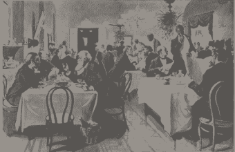 House members' dining room in the 1800s. Photo from Collection of the U.S. House of Representatives http://history.house.gov/Exhibitions-and-Publications/Dining-Room/History/
