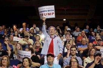 Trump rally Reuters/Joshua Roberts