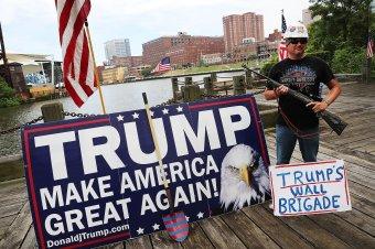 Trump wall brigade guy Getty Images/Spencer Platt