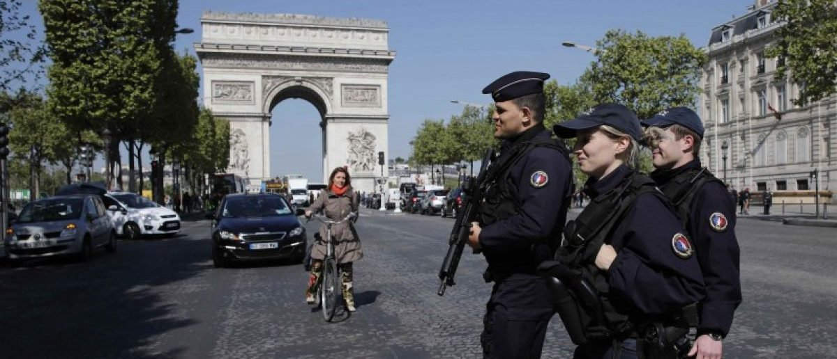 Champs-Elysees Evacuated After Car Filled With Explosives Rams Police Van