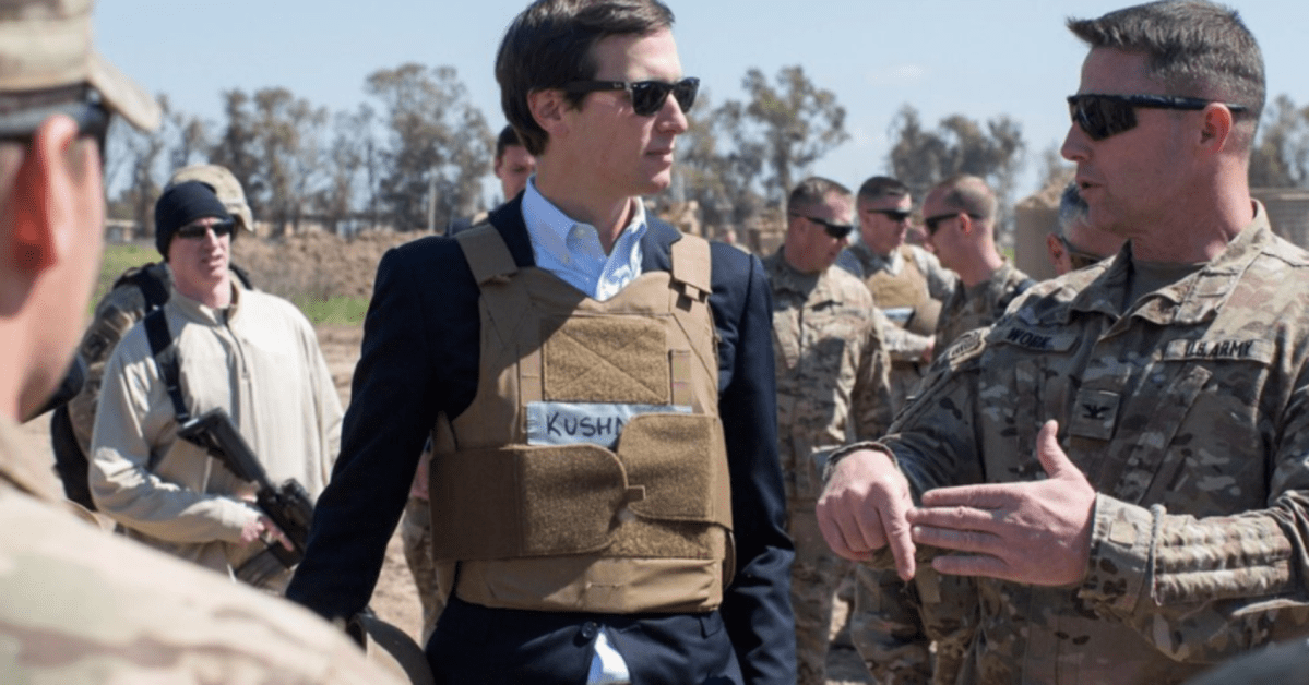 Kushner Is Off To The Middle East In An Effort To Reach A Peace Deal