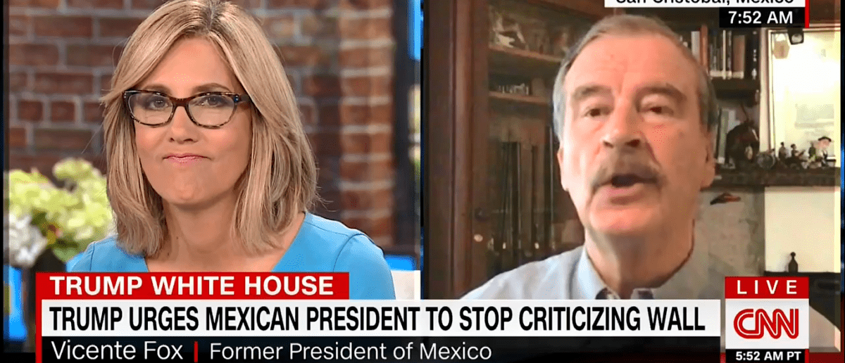 Former Mexican President Drops F-Bomb On CNN While Talking About Border Wall [VIDEO]