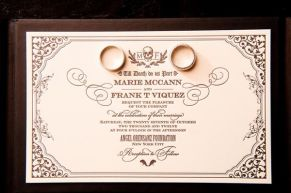 Dracula inspired wedding invitation