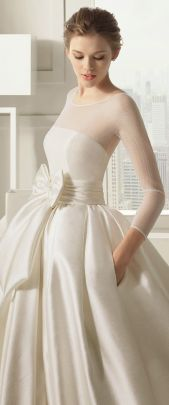 Long sleeve wedding dress winter wedding